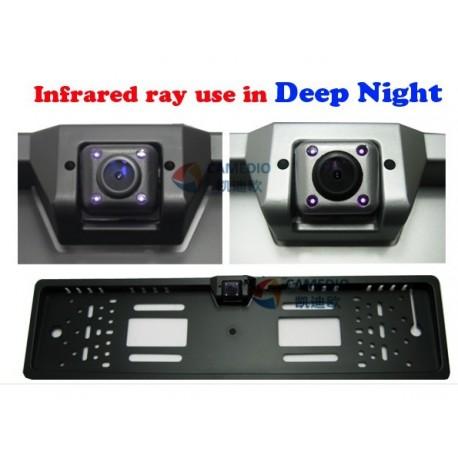 Support de plaque Auto avec Camera intégré.